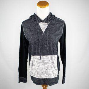 Broken Threads grey and black ladies hoodie (S)